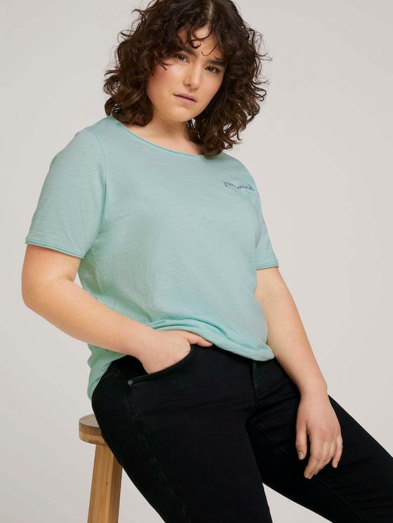 Print T-Shirt mit Bio-Baumwolle - Frauen - pale mint - 5 - My True Me