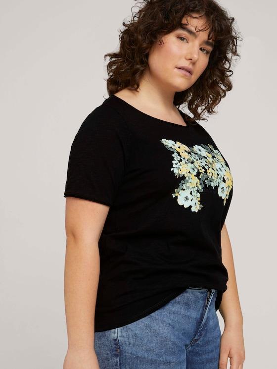 Curvy - Print T-Shirt mit Bio-Baumwolle - Frauen - Black - 5 - My True Me