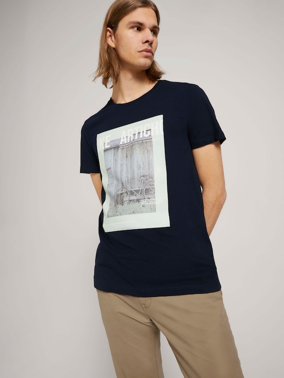 T-Shirt mit Bio-Baumwolle - Männer - Sky Captain Blue - 5 - TOM TAILOR Denim