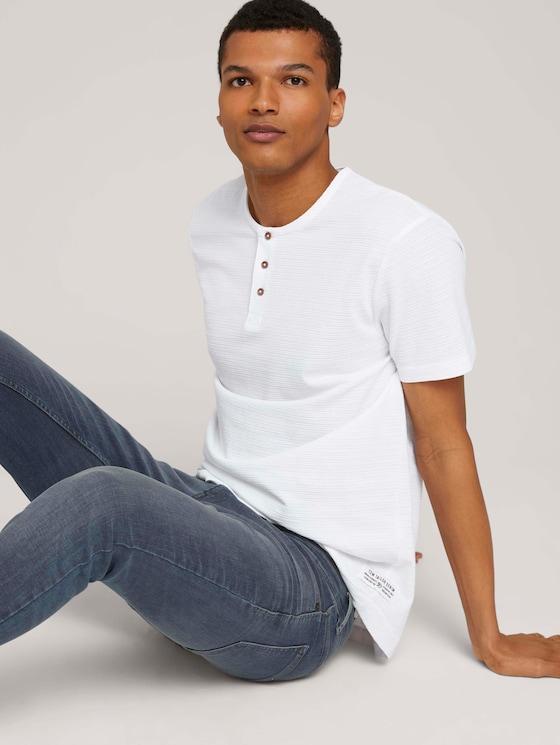 Henley T-Shirt - Männer - White - 5 - TOM TAILOR Denim