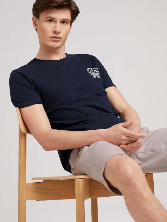 T-Shirt mit Bio-Baumwolle - Männer - Sky Captain Blue - 5 - TOM TAILOR Denim
