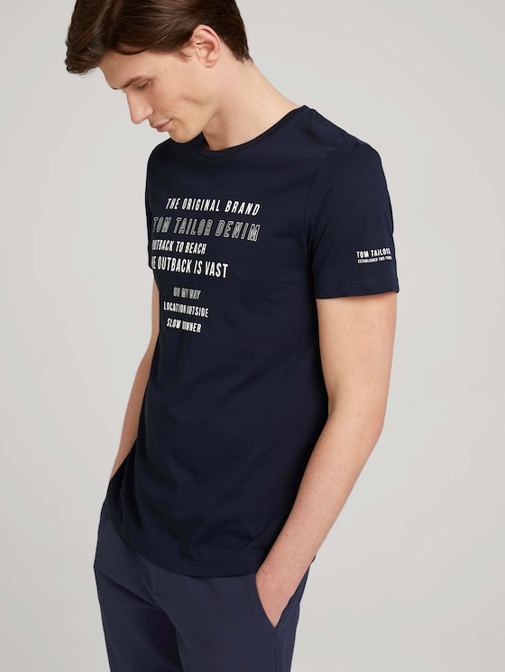 T-shirt made of organic cotton - Men - Sky Captain Blue - 5 - TOM TAILOR Denim