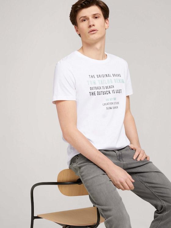 T-Shirt mit Bio-Baumwolle - Männer - White - 5 - TOM TAILOR Denim