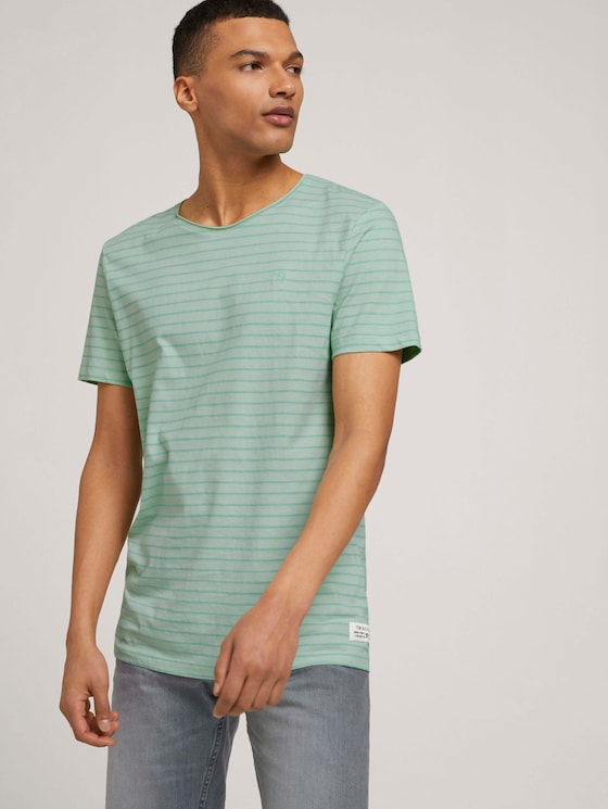 gestreiftes T-Shirt mit Bio-Baumwolle - Männer - mint tonal stripe - 5 - TOM TAILOR Denim