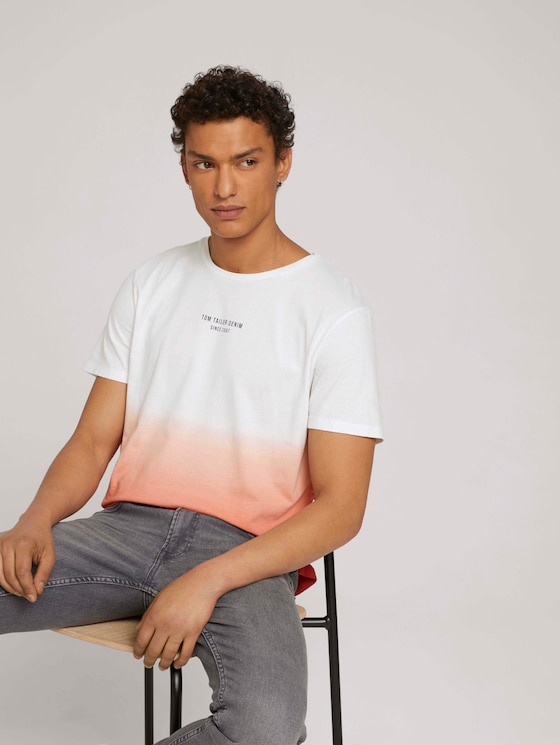 T-shirt met verloop - Mannen - orange lobster - 5 - TOM TAILOR Denim