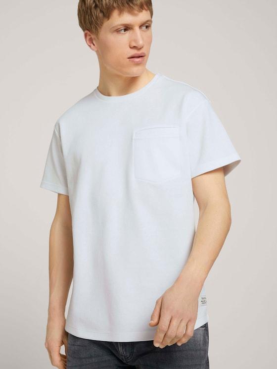Basic T-Shirt - Männer - White - 5 - TOM TAILOR Denim