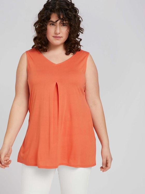 ärmelloses Shirt mit Faltendetail - Frauen - sundown coral - 5 - My True Me