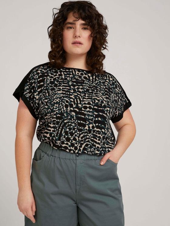 Curvy - Gemustertes T-Shirt mit LENZING™ ECOVERO™ - Frauen - resort design - 5 - My True Me
