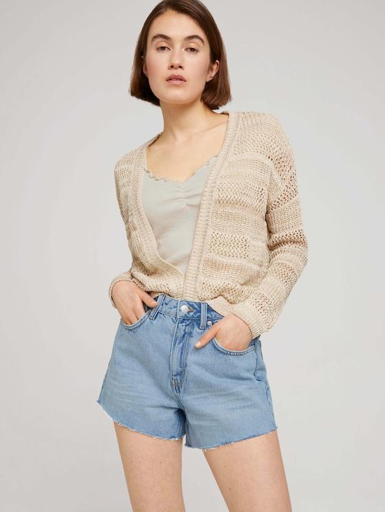 Lockerer Cardigan mit Struktur - Frauen - dune beige - 5 - TOM TAILOR Denim