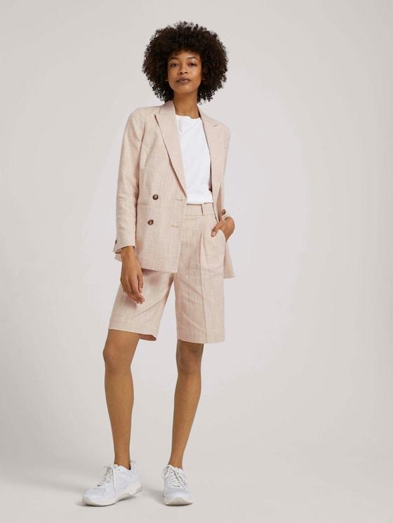 Bermuda Shorts mit Bundfalten - Frauen - sand white twill - 3 - Mine to five