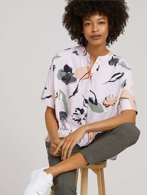 patterned blouse - Women - floral design - 5 - Mine to five