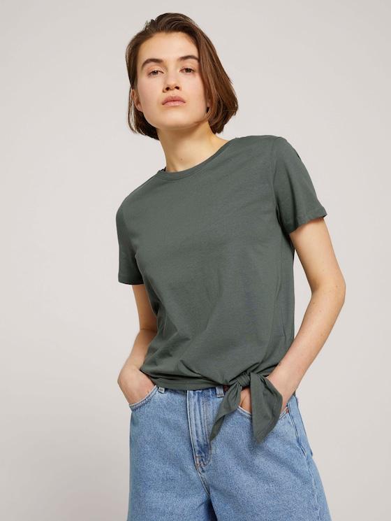 T-Shirt mit Bio-Baumwolle - Frauen - dusty pine green - 5 - TOM TAILOR Denim