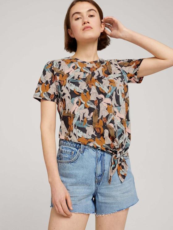 T-Shirt mit Bio-Baumwolle - Frauen - abstract monkey print - 5 - TOM TAILOR Denim