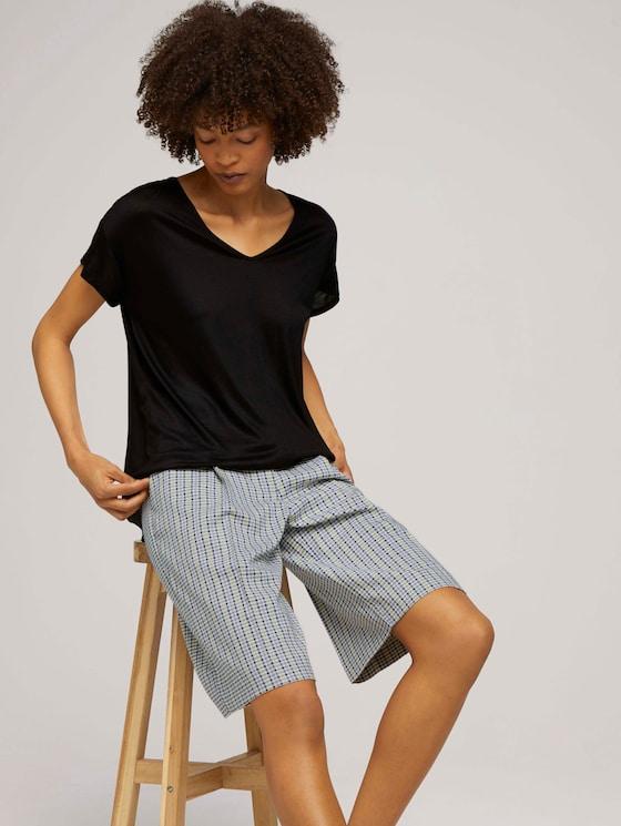 T-Shirt mit V-Ausschnitt - Frauen - deep black - 5 - Mine to five