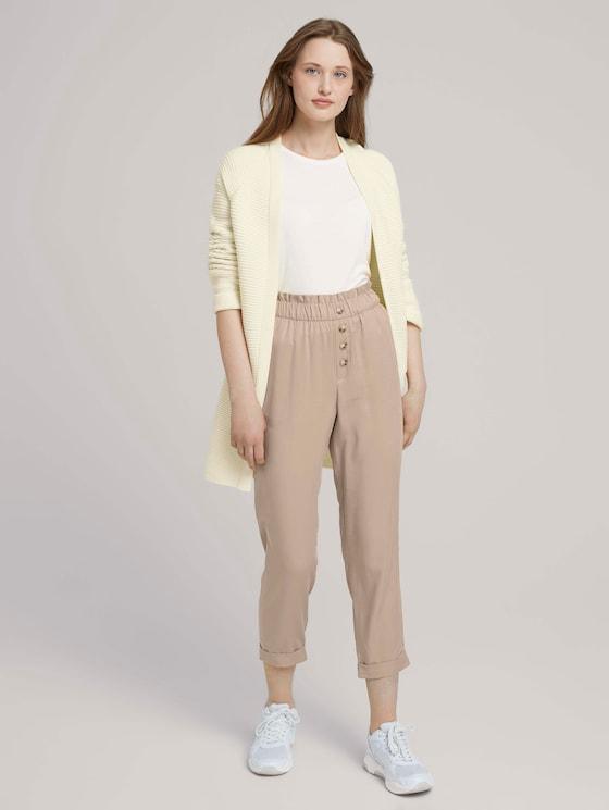 Relaxed Tapered Hose mit TENCEL™ - Frauen - dune beige - 3 - TOM TAILOR Denim