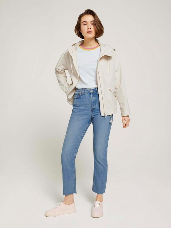 Emma Straight Jeans mit TENCEL™ - Frauen - Used Mid Stone Blue Denim - 3 - TOM TAILOR Denim