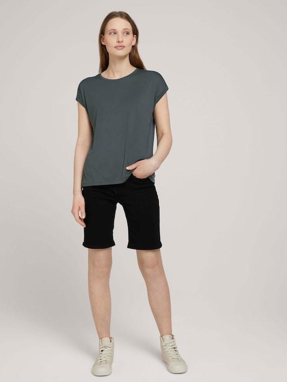 Lina Bermuda Shorts mit Bio-Baumwolle - Frauen - black stone wash denim - 3 - TOM TAILOR Denim