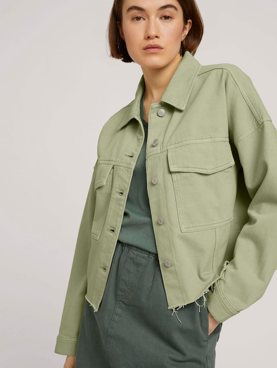 Feld Jeansjacke mit Bio-Baumwolle - Frauen - light moor green - 5 - TOM TAILOR Denim