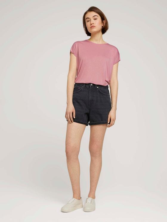 Mom Fit Shorts - Frauen - dark stone black black denim - 3 - TOM TAILOR Denim