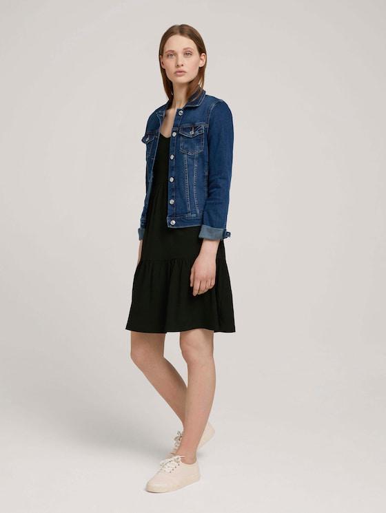 Jersey Minikleid mit Schleifendetail - Frauen - deep black - 5 - TOM TAILOR Denim