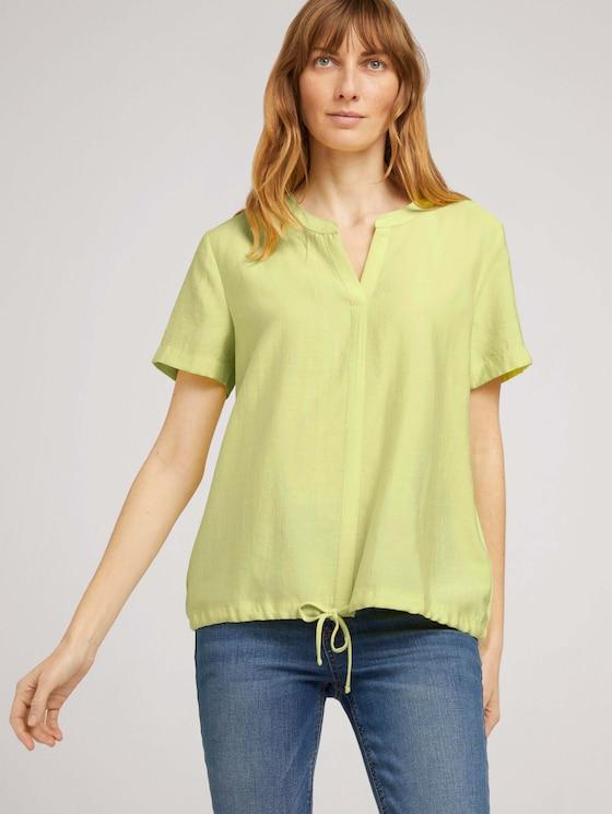T-Shirt mit TENCEL™ und Tunnelzug - Frauen - celery ice - 5 - TOM TAILOR
