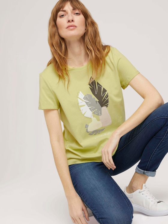 T-Shirt mit Bio-Baumwolle - Frauen - celery ice - 5 - TOM TAILOR