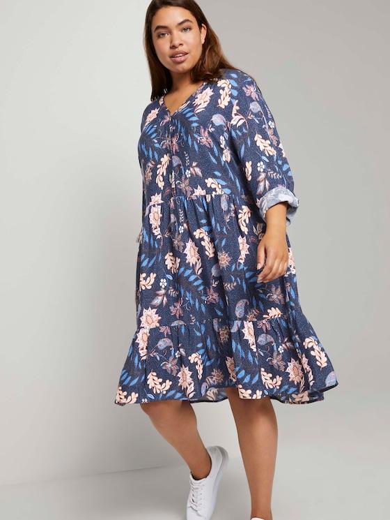 Tunikakleid mit Blumenmuster - Frauen - navy floral design - 5 - My True Me