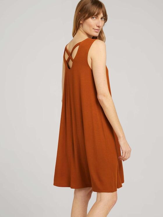 Jersey dress with back details - Women - Caramel Brown - 5 - TOM TAILOR