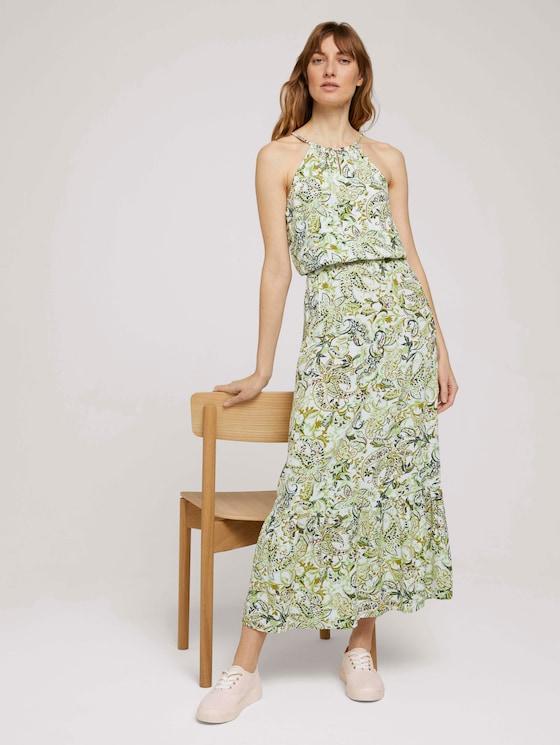 Gemustertes Neckholder Maxikleid - Frauen - green paisley design - 5 - TOM TAILOR