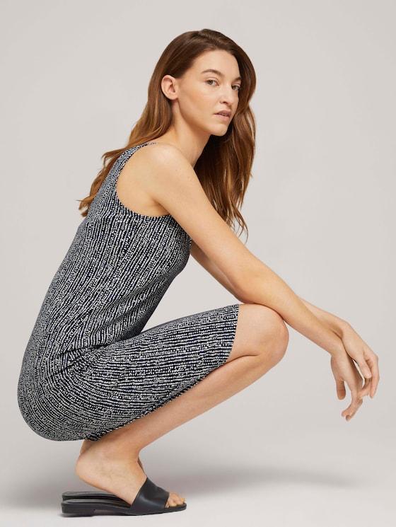 Ärmelloses Jerseykleid mit Knotendetail - Frauen - blue minimal design vertical - 5 - TOM TAILOR