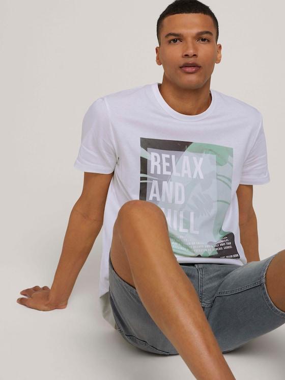 Print T-Shirt - Männer - White - 5 - TOM TAILOR Denim