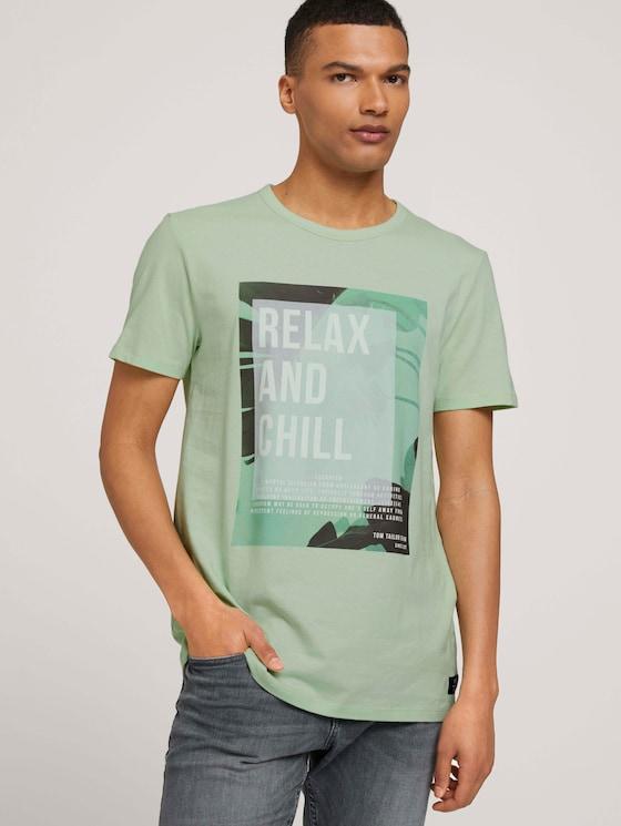 Print T-Shirt - Männer - smooth green - 5 - TOM TAILOR Denim