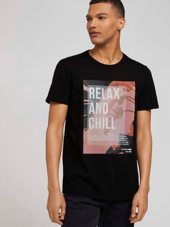 T-shirt met print - Mannen - Black - 5 - TOM TAILOR Denim