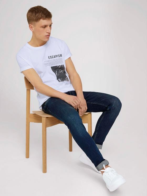 T-shirt with a photo print - Men - White - 5 - TOM TAILOR Denim
