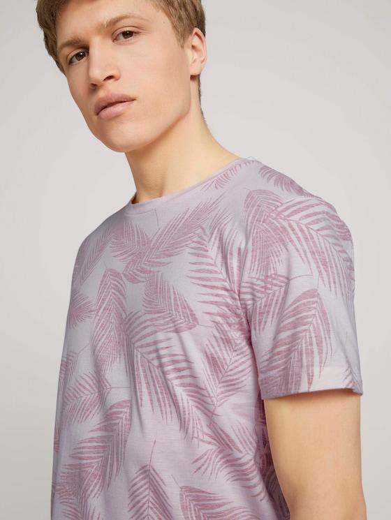 T-shirt met palmprint - Mannen - peach inside palm leaf print - 5 - TOM TAILOR Denim