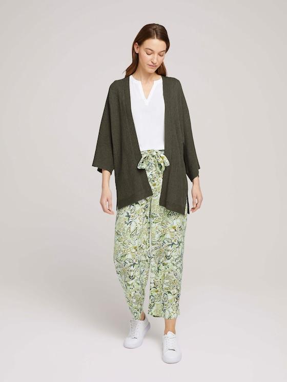 Gemusterte Culotte Hose mit LENZING™ ECOVERO™ - Frauen - green paisley design - 3 - TOM TAILOR