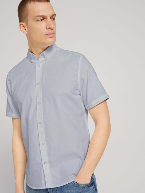 strukturiertes Kurzarmhemd - Männer - White - 5 - TOM TAILOR