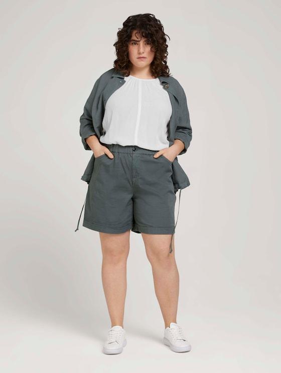 Curvy - Relaxed Bermuda Shorts - Frauen - washed jasper green - 3 - My True Me