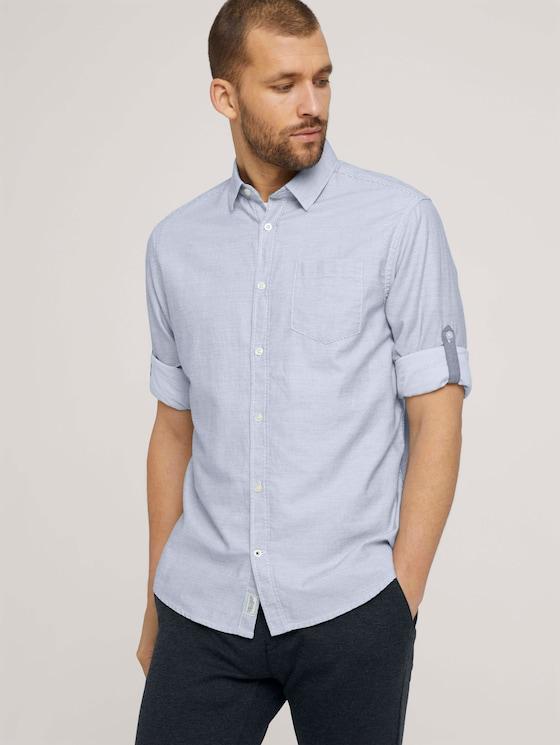 gestreiftes Hemd - Männer - off white horizontal stripe - 5 - TOM TAILOR