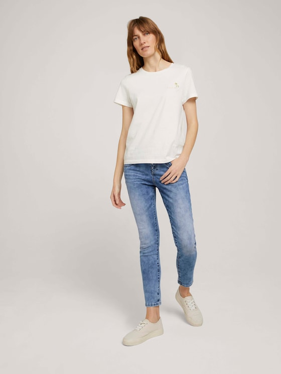 Cropped Tapered Relaxed Jeans - Frauen - Used Mid Stone Blue Denim - 3 - TOM TAILOR