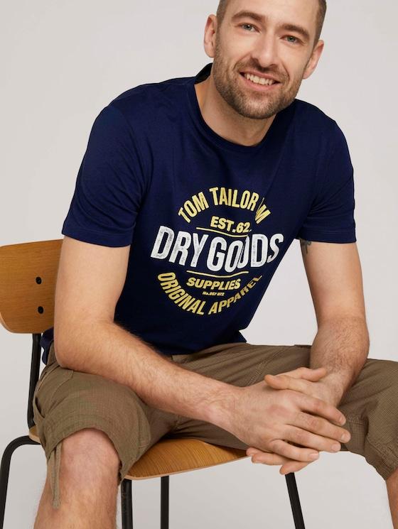 T-Shirt mit Print - Männer - Sailor Blue - 5 - TOM TAILOR