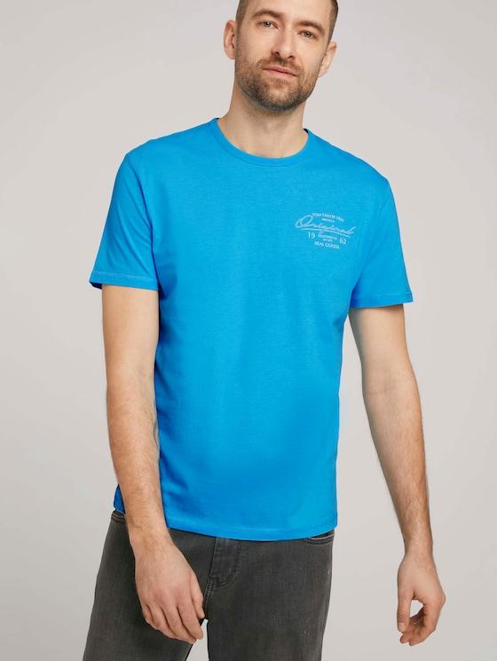 T-Shirt mit Bio-Baumwolle - Männer - aquarius turquoise - 5 - TOM TAILOR