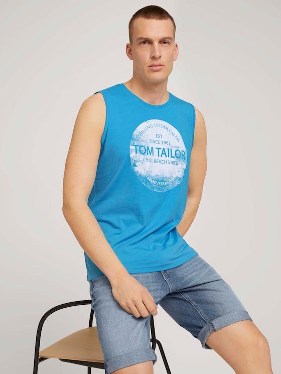 Tanktop mit Bio-Baumwolle - Männer - aquarius turquoise - 5 - TOM TAILOR