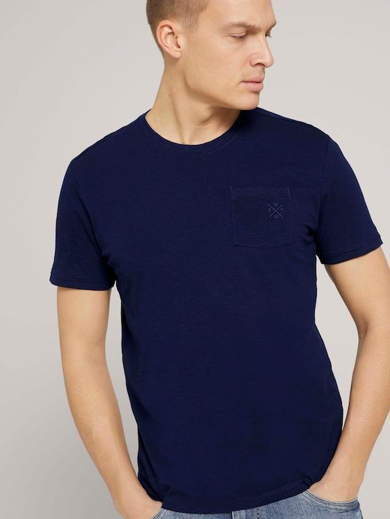 T-Shirt mit Bio-Baumwolle - Männer - Sailor Blue - 5 - TOM TAILOR