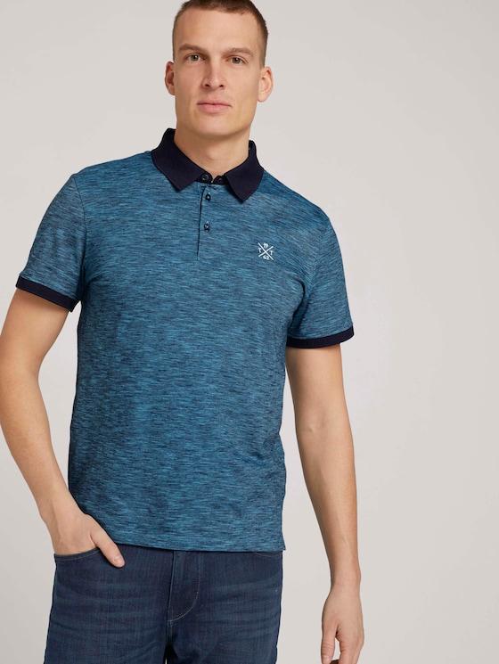 Fein gestreiftes Poloshirt - Männer - aquarius blue yd stripe - 5 - TOM TAILOR