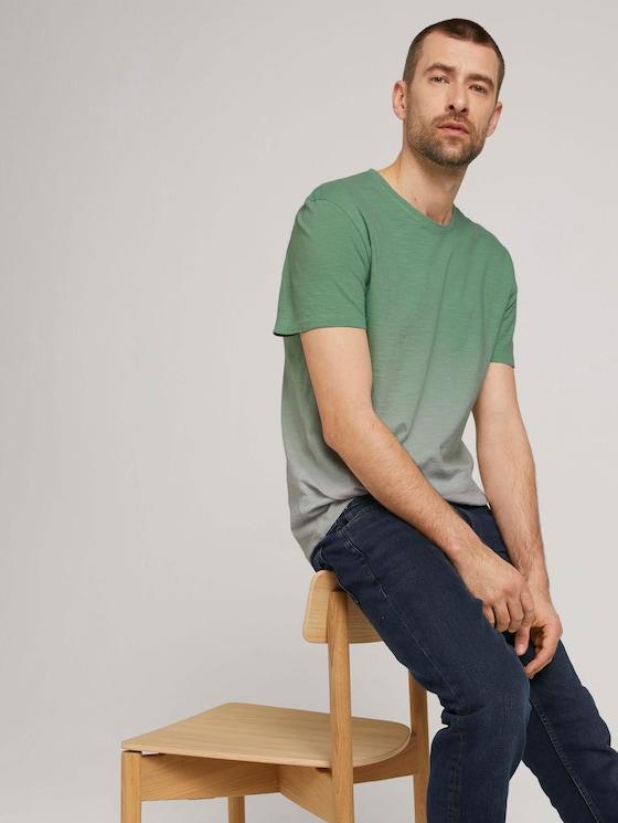 Gestreept T-shirt - Mannen - Yarn Dye Stripe White - 5 - TOM TAILOR