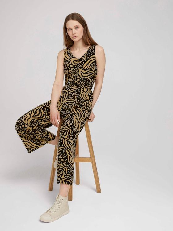 Mouwloos Culotte Jumpsuit - Vrouwen - black animal print - 5 - TOM TAILOR Denim