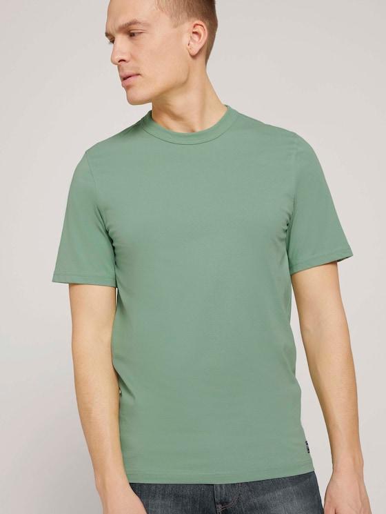 Basic T-Shirt - Männer - light mint green - 5 - TOM TAILOR