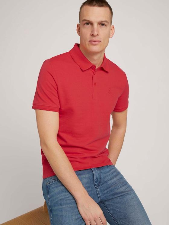 Strukturiertes Poloshirt - Männer - Plain Red - 5 - TOM TAILOR