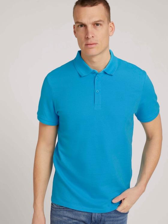 Strukturiertes Poloshirt - Männer - aquarius turquoise - 5 - TOM TAILOR